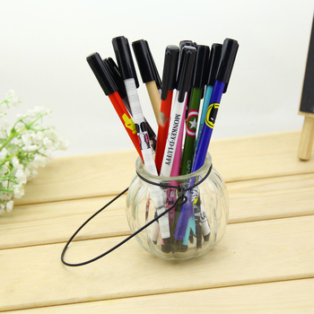 B208 South Korea stationery wholesale drilling stone pen lovely printing creative black pen student supplies image