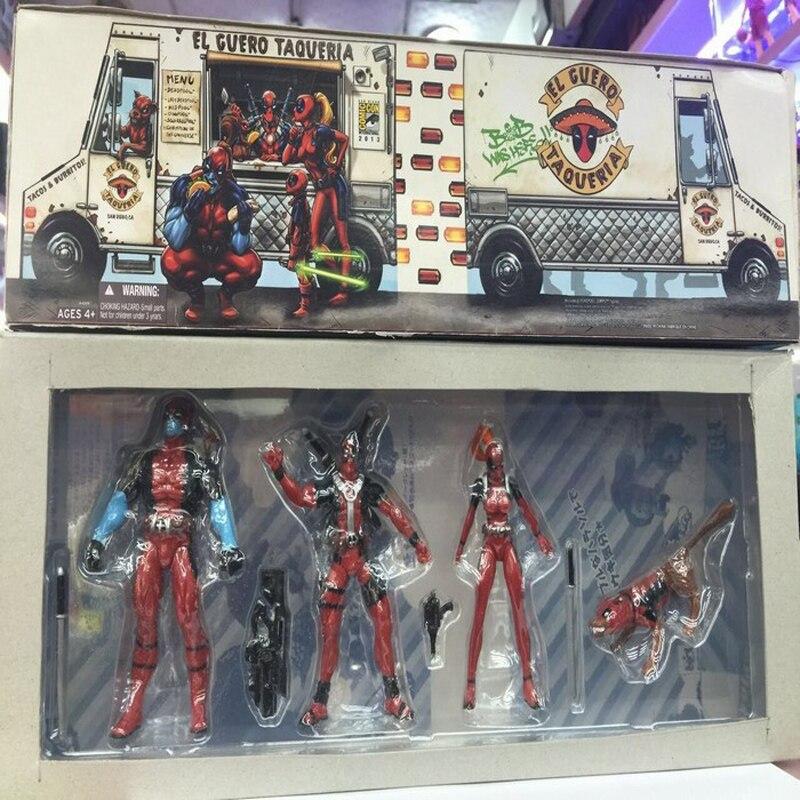 X-men 4pcs/set Deadpool PVC Doll Action Figure Toys Gift For Children Collectible Model Toy