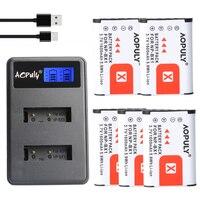 5 Pcs NPBX1 NP BX1 NP BX1 Battery Packs + LCD Dual USB Charger for Sony DSC RX1 RX100 AS100V M3 M2 HX300 HX400 HX50 HX60 GWP88
