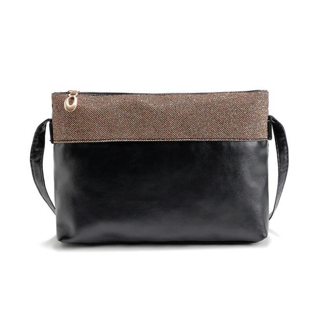 b4296ce28ff5 2018 New Ladies zipper PU leather shoulder bag female leather crossbody bag  black women messnger bags