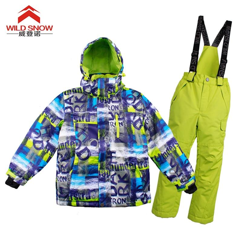 2017 Kids Ski Suit Waterproof Windproof Ski Jacket And Pants Boy Girls Snow Trousers Children Snowboard Ski Suits