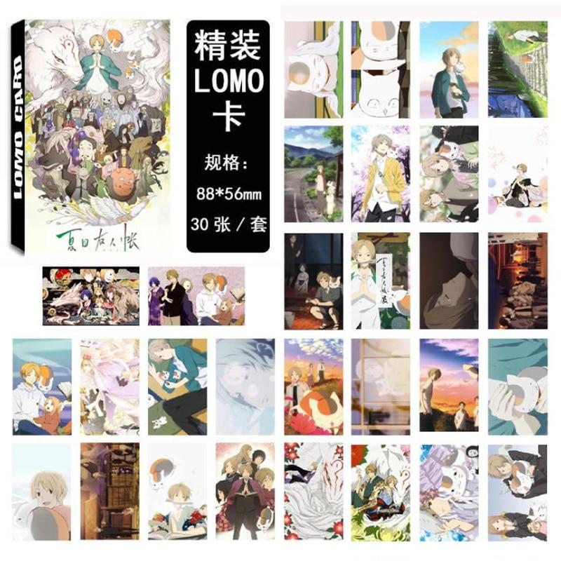 30 Pcs/pack Cute Japan Anime Natsume Yuujinchou Cells At Work Himouto Umaru-chan Paper Selfmade Lomo Cards Photo Card Stationery