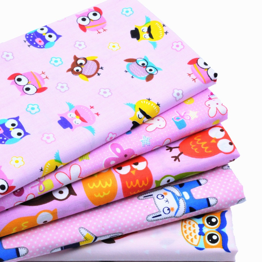 5ks 40 * 50cm růžová kreslená bavlněná tkanina měřidla Diy - Umění, řemesla a šití