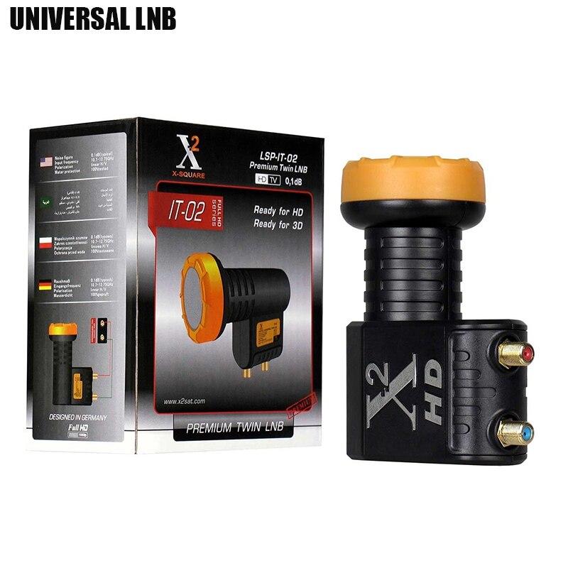 VIDBOX HD Numérique Universelle LNB Pour Satellie TV Récepteur Twin LNB haute Puissance Qualité Bande Ku LNBF Bruit Figure 0.1dB Twin LNB