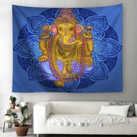 Indian Elephant Tapestry Bohemian mandala Wall Hanging indian elephant God Tapestry Mandala Tenture Murale Blanket tapiz pared