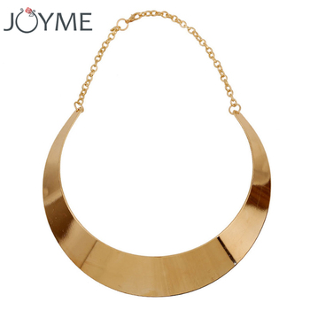 14c357951ee6 Mujer gargantilla declaración gótico Maxi Collier media luna Chocker collar  femenino Simple oro anchos collares para
