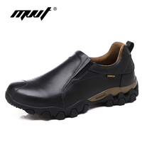 Quality Genuine Leather Shoes Men Casual Shoes 2017 Autumn Waterproof Slip On Men Shoes Flats Anti