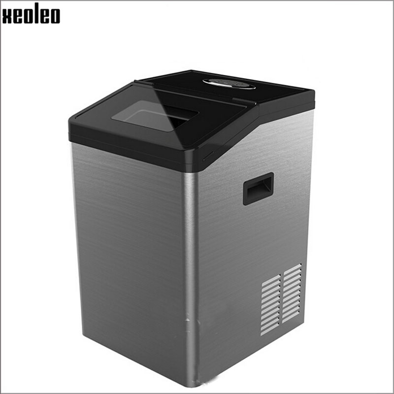 Xeoleo Mini Ice maker commercial ice make machine 55kg/24h Ice machine Ice Cube automatic/manual water inlet storage3-5kg