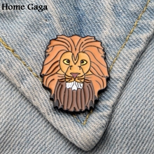 Homegaga Lion kings PUMBAA Zinc tie cartoon Funny Pins backpack clothes brooches for men women hat decoration badges medal D1843