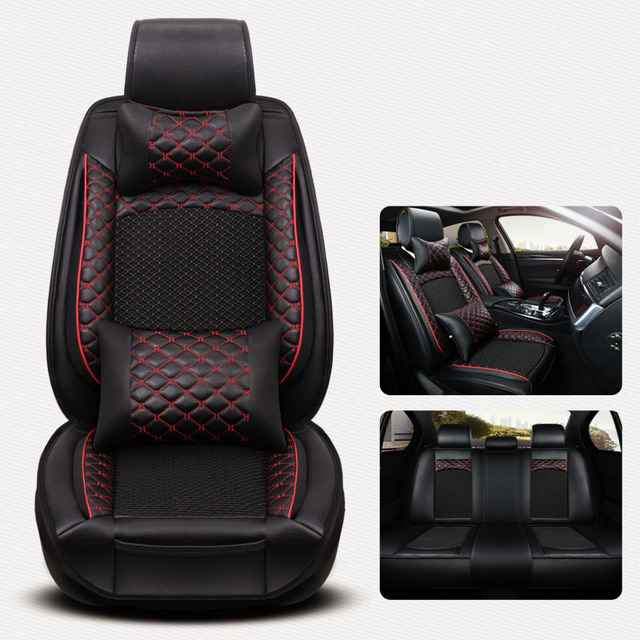Leather & ice silk car seat cover automobiles seat covers for ...
