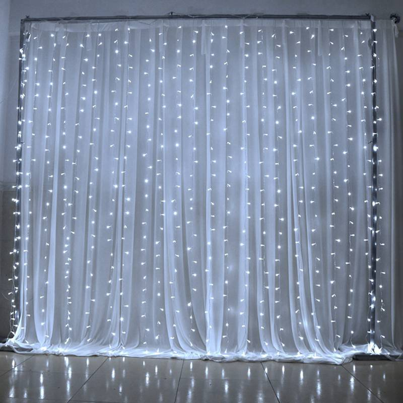 3Mx3M 300LEDS led icicle curtains waterproof fairy lights Christmas lights wedding home garden party decoration lights led fiber optic wedding backdrop curtains lights for wedding stage decoration