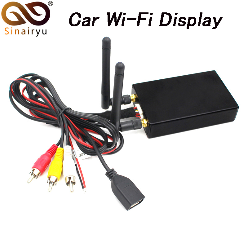 Sinairyu Car WiFi Display iOS AirPlay Mirror Link for Car Home Video Audio Miracast DLNA Airplay Screen Mirroring 5.8G цена