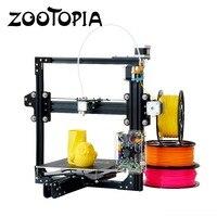 New Desktop 3D DIY Kit Printer Duplicator Auto Level Digital 3D Aluminum Metal Electronic Stampante 3D with 1 Roll Filament Gift