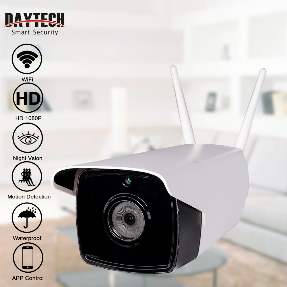 DAYTECH font b Wireless b font IP Camera WiFi Bullet Outdoor Camera HD 720P 1080P Waterproof