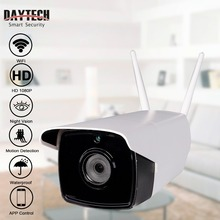 DAYTECH Wireless IP Camera WiFi Bullet Outdoor Camera HD 720P/1080P Waterproof Outdoor Monitor Night Vision Motion Detection H04