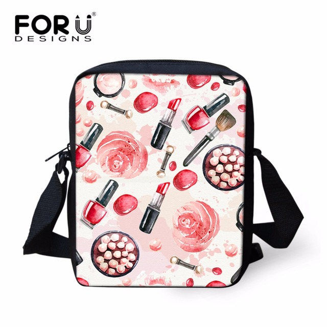 FORUDESIGNS Women Shoulder Bag Fashion Lipstick Print Crossbody Bag for  Ladies Designer Female Girls Messenger Bags Mochila