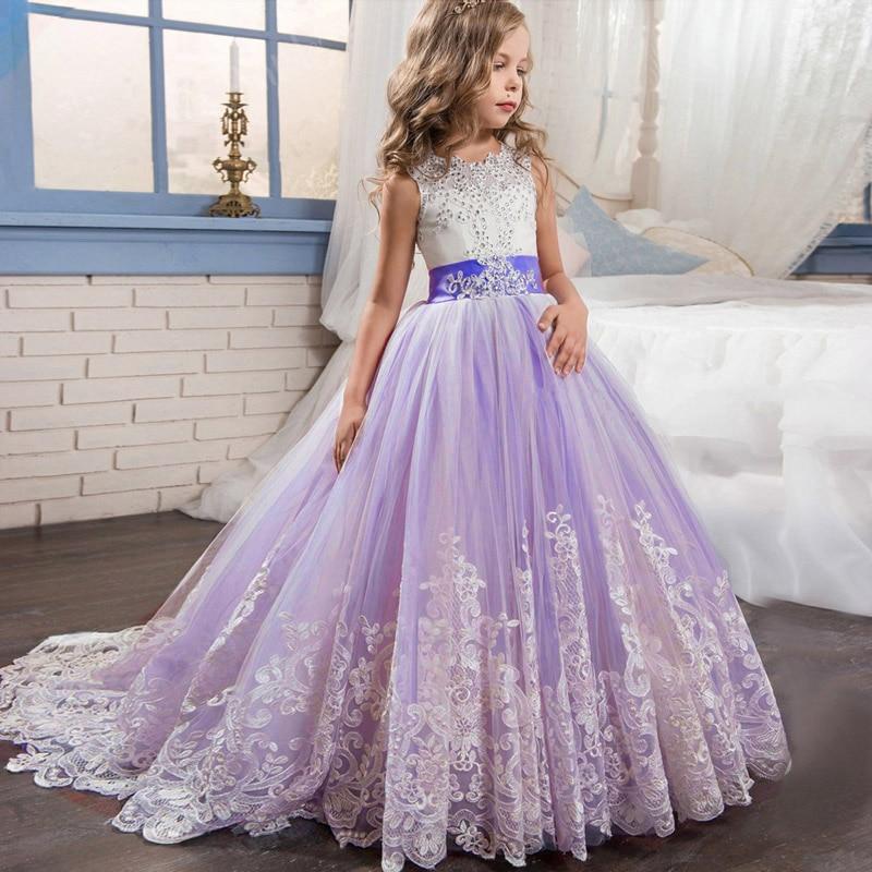 High quality   flower     girl     dress   children evening wedding   girls     dress   first communion princess costume ladies vestido comunion