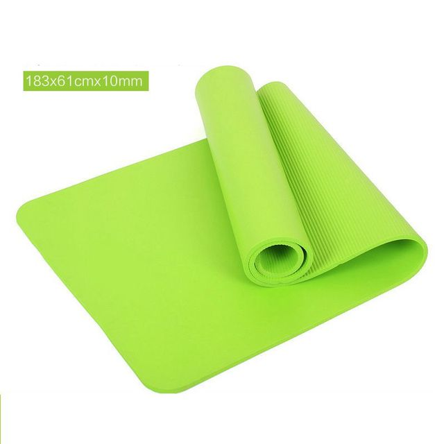 428473434 GoYoga All-Purpose 1 2-Inch Extra Thick High Density Anti-Tear Exercise  Yoga Mat with Carrying Strap