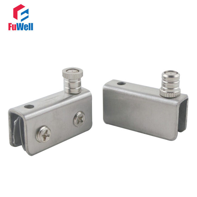 Online Shop 4pcs 41mm Length Small Stainless Steel Glass Door Hinges