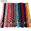 Braiding Hair 1 pcs long 100 cm folded Synthetic Jumbo Braids 165g/piece VERVES pure color Braid Hair Extensions