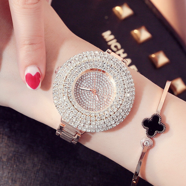 Fashion Womens Watches For Top Luxury Brand Stainless Steel Belt Ladies Golden Q