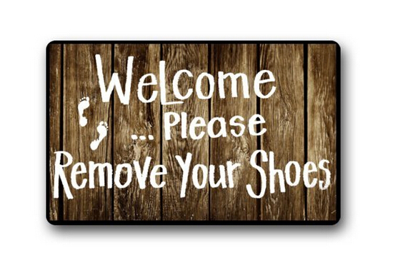 2015 New Arrival Custom Welcome Please Remove Your Shoes