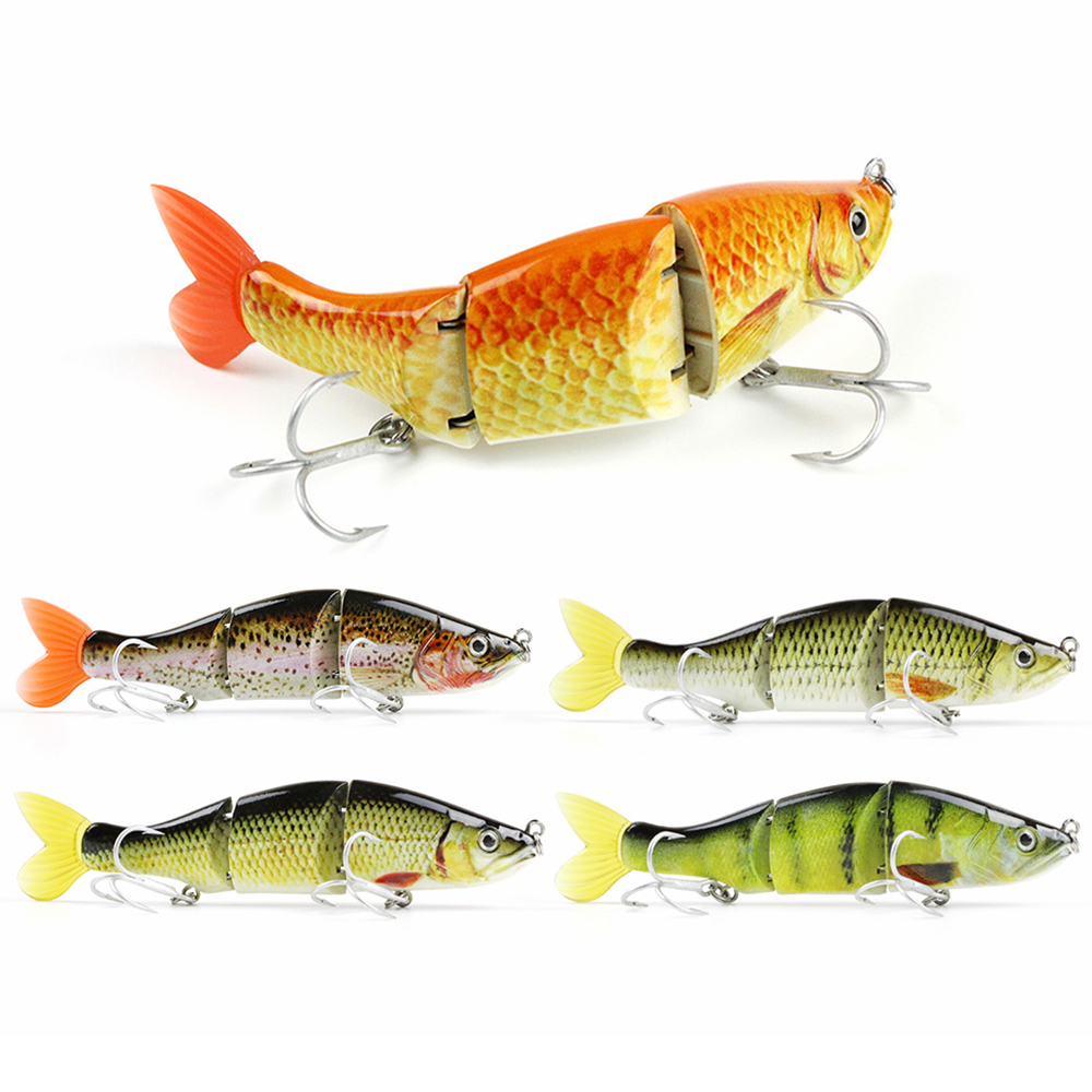 4.5/17.8g New Design Pike Fishing Lure 3 Segment Lifelike Crankbait Artificial Hard Swimbait VMC Hook Fish Bait Tackle AL18A-S walk fish 5pcs lot isca artificial fishing lure 13cm 21g crankbait hard fishing bait swimbait pesca lures pike fishing tackle