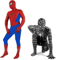 RASMEUP Black Spiderman Costume Clothes Suit Boy Kids Children Adult Spiderman Costume Zentai Halloween Cosplay Costume