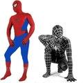 RASMEUP Preto Spiderman Traje Terno Roupas Menino Crianças Crianças Adulto Spiderman Zentai Costume Halloween Cosplay