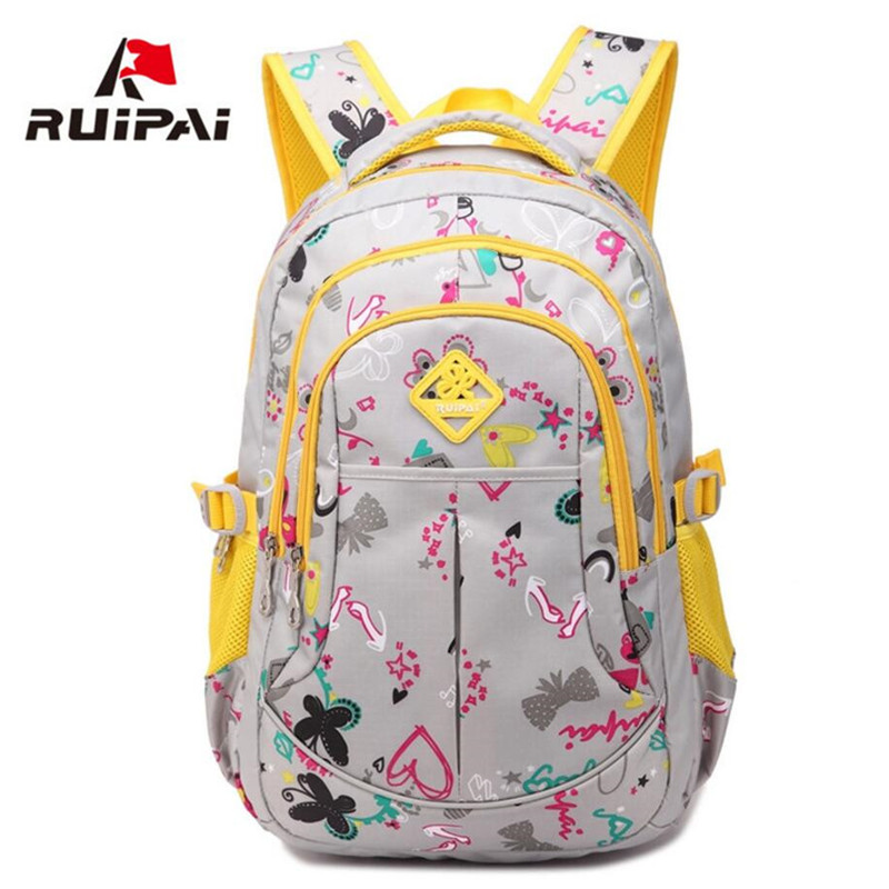 New Pink Lovely Horse Children School Bags Kids Backpack For Girls Bag mochila escolar