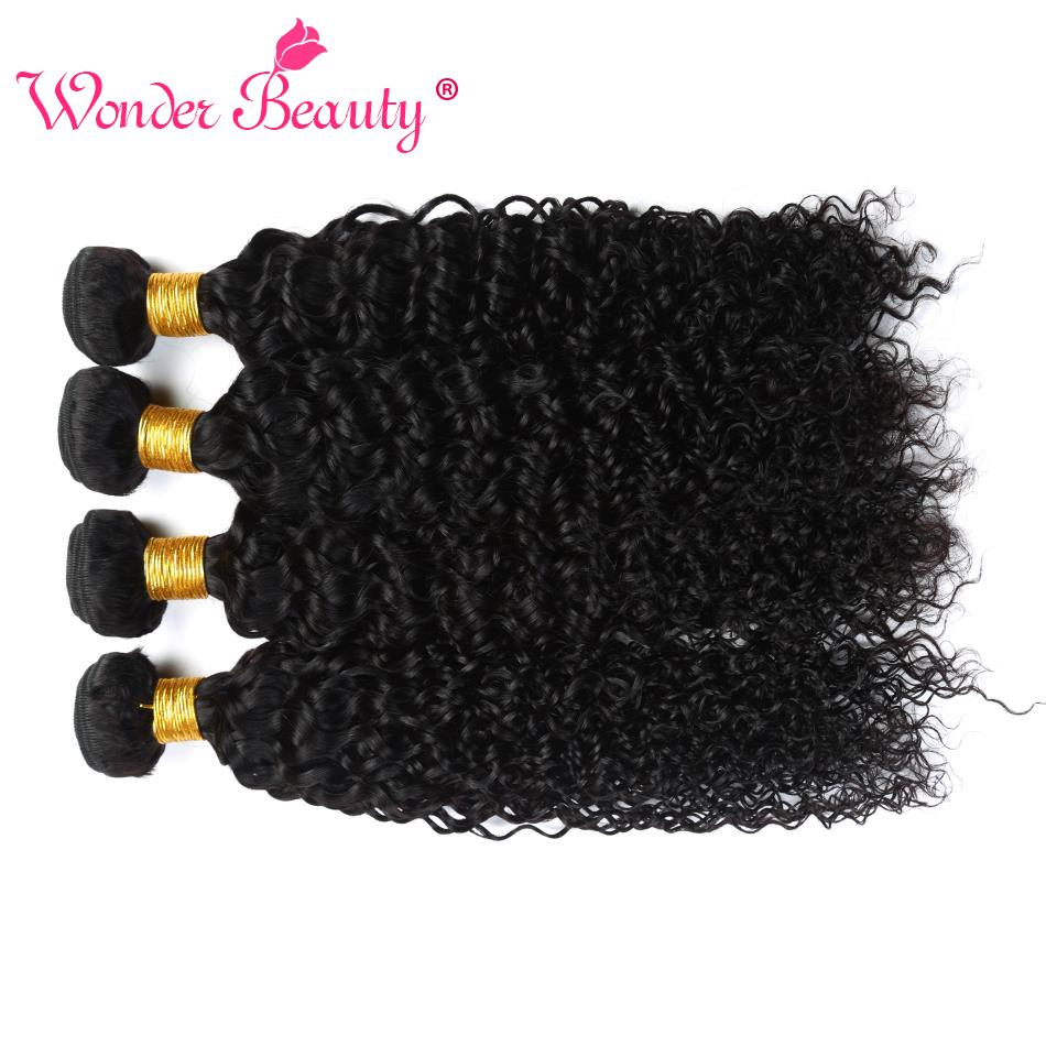 Wonder Beauty Brazilian Hair Weave Bundles 100% Human Hair Extensions Afro Kinky Curly Hair 4 Bundles Non Remy Free Shipping