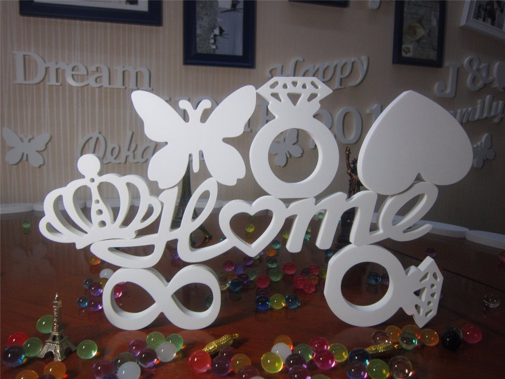personalized wedding decoration artificial wood letters photo frame use free standing wood letters and 3d wooden