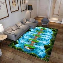 3D печатных большой площади Коврик для прихожей нескользящий; для пола коврики ковры для Спальня журнальный столик для гостиной домашний декор alfombra