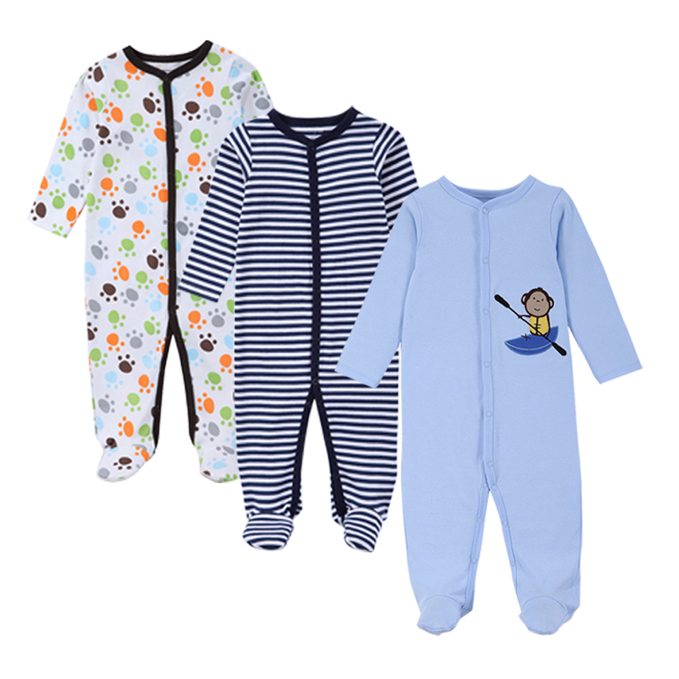 3 Sztuk / zestaw Moda Bawełna zimowe pajacyki dla niemowląt - Odzież dla niemowląt - Zdjęcie 1