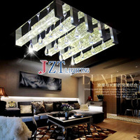 GETOP Modern Fashion LED Crystal Ceiling Lamp Square Bubble Crystal Column Lighting Fixture Bedroom Livingroom And Restaurant