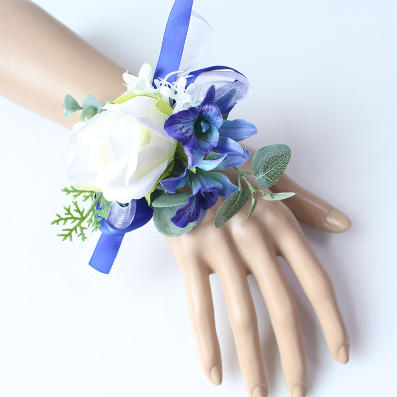 Wrist Corsage Bracelet wedding bridesmaid wrist flower  (23)