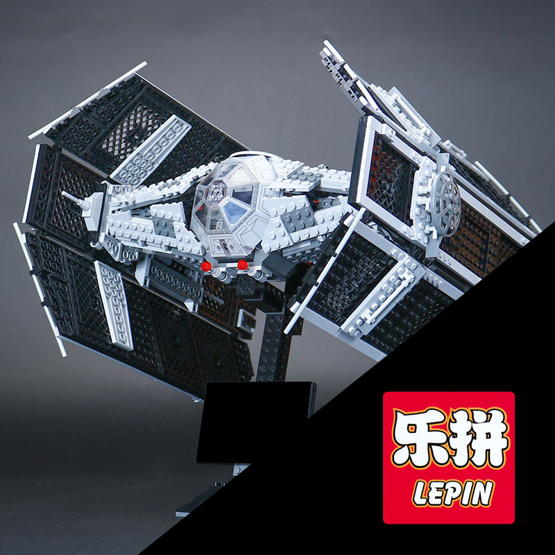 LEPIN 05055 1212Pcs Vader TIE advanced fighter air Model craft Building Kit Blocks Bricks Compatible legoINGlys 10175 birthday lepin 05055 1212pcs star wars vader tie advanced fighter building block toys figure gift for children compatible legoe 10175