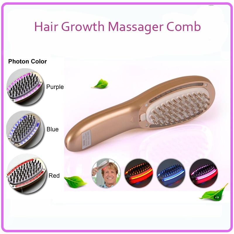 Electric font b Hair b font Follicle Stimulation Nourishing Restoration Regrowth Massager Comb For Men And