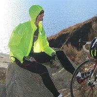 Santic Apple зеленый свет Велоспорт плащ ветрозащитная куртка Для мужчин водонепроницаемый открытый MTB Велоспорт Джерси Велоспорт куртка mc07008v