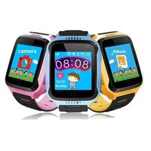 Russian Verision Smart Watch for Children Kids GPS Locator Watch SOS Call with Camera Flashlight SmartWatch Baby Watch Pedometer(China)