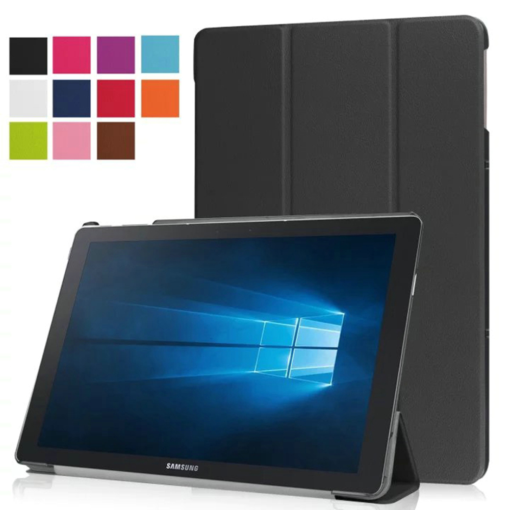 New Ultra Thin Slim Sleeve Magnetic Folio Stand Leather Case Smart Cover For Samsung Galaxy Tab Pro S W700 W703 W707 SM-W700 12 luxury ultra thin slim folio stand
