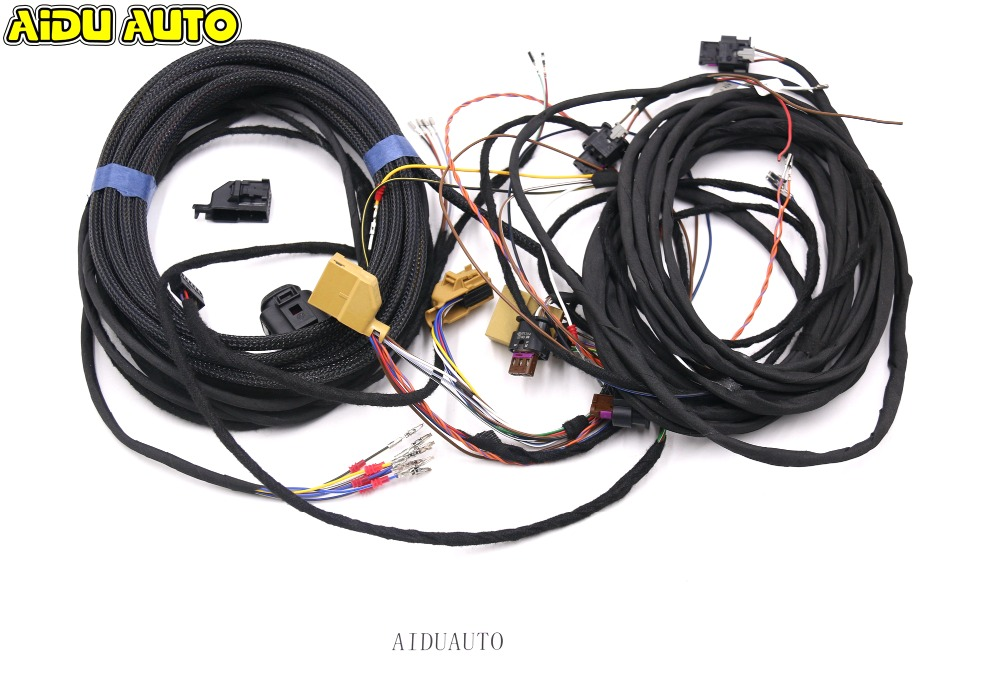 For Audi A6 C7 PLA Auto Parking PLA 8K To 12K Install Harness Wire use fit for golf 6 jetta mk6 auto intelligent parking assist 12k park assist pla 2 0 upgrade ops install harness wire
