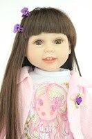 18 Silicone Vinyl Reborn Baby Dolls Very Soft Girl Doll New Model Antique Girl Dollfashionable Baby