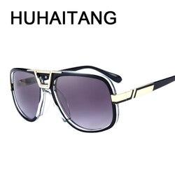 HUHAITANG luxury brand aviator sunglasses men pilot driving sun glasses for women transparent nose pads brand designer eyewear