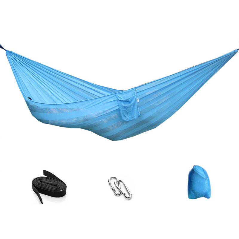 Outdoor Hammock Hanging Net Bed Bed Swing Portable Garden Outdoor Camping Travel Furniture Single Double Hammock portable nylon parachute double hammock garden outdoor camping travel furniture survival hammock swing sleeping bed for 2 person