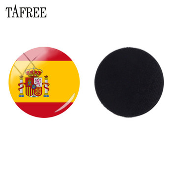 TAFREE DIY Spain,Czech Republic,Andorra,Uruguay Flag Magnetic Sticker Fridge Magnet Glass Cabochon Dome Beads Base Setting FG87 image