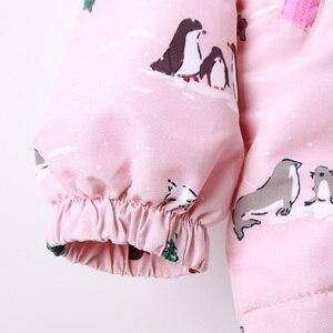 Image 4 - Детские толстовки с капюшоном для девочек 2 9 лет, повседневные ветрозащитные куртки с принтом животных для девочек, весна лето 2019