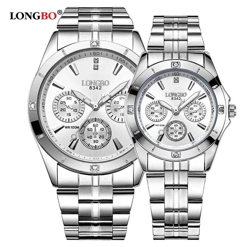 LONGBO Military Sports Unique Design Couple Stainless ...