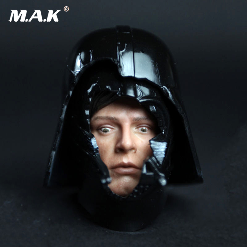 1/6 Scale HT DX07 VIP Star Wars Darth Vader Helmet with Luke Dark Face Fear Face Head Carving Model Fit 12 1