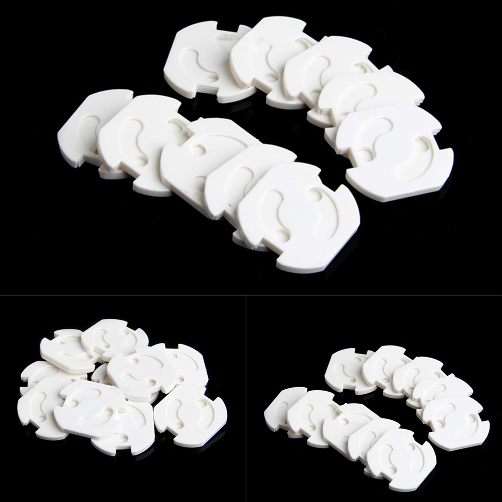 New 10 Pcs EU Socket Outlet Baby Child Child Safety Protection Anti - Current Plug Protector Turning Cover Baby Safety